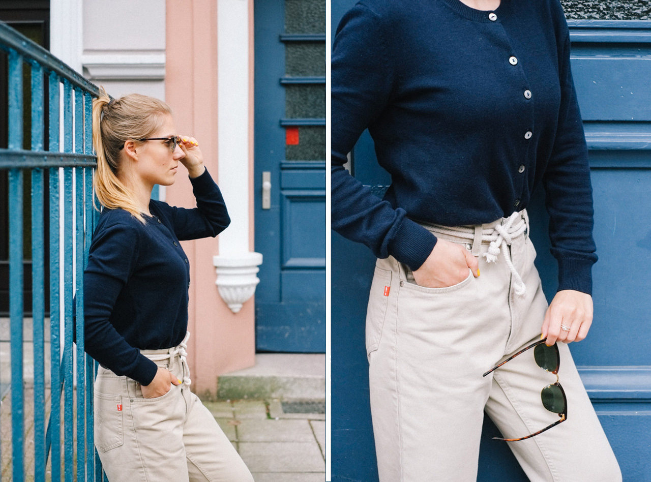 NicetohaveMag_Cardigan_Joop_PeopleTree_navy_Outfit_fairfashion_Kleiderkreisel_slowfashion